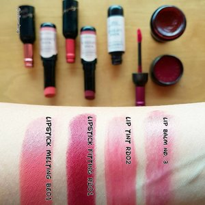 Swatches from Labiotte lip collection 💋 They have three different Lip product; Lip Tint, Lip Balm and Lipstick which come in both matte and moisturizing formulae. And both Lipstick come with a cushion tip for easy application 😊  Totally in love with this cute collection!  #clozette #abcommunity #kbeautyblogger