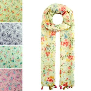 Floral printed scarves set are very soft and light, best choice for spring season.
