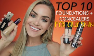The 10 Best Foundations + Concealers for Oily Skin - YouTube