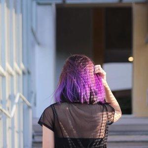 OOMPHx#hotd#hairsg #salonsg #purplehair #lob #lotd #clozette #throwback #stylexstyle #exploretocreate #igers #vscosg #igsg #vscocamsg #igersingapore