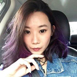 FLAWEDx#selfie #selca #clozette #igsg #vscocamsg #carseatselfie #motd #lotd #igersingapore #vscosg #lotd #throwback #purplehair #haircurls