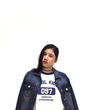 When in doubt wear denim. 💙 #teamshirubi #clozette • Shirt: @gtwbysm • Denim Jacket: @6ixty8ight68  #denim #denimjacket #blue #fashion #ootd #shirt #gtwbysm #68fashion