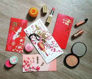 And... #Celebrations for Chinese New Year starts today 😂 #pink #orange #red and #gold for #luck #love❤ and harmony! Can't wait to meet le cuzzins for potluck!  #lush #sephora #elizabetharden #givenchy #benefit #etudehouse #cosmetics #beauty #beautyaddict #igsg #igsgbeauty #cny #colours #hongbao #clozettecosg #clozette