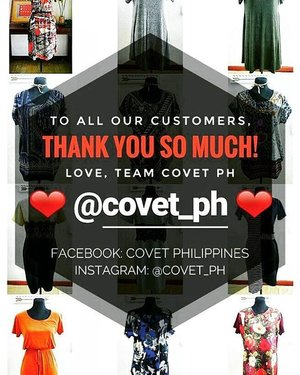 To all our @covet_ph customers, THANK YOU!!! We are going to release our third collection soon so please follow our Instagram account @covet_ph to be updated 😊