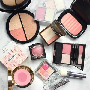 The Monday Blues are really strong today - imma feeling like an extra from the set of Avatar 😰 hoping that these pretty pinks can offset the blues~ Mournday indeed~ meh~! #itcosmetics #marcjacobsbeauty #blush #hera #lunasol #nyx #jillstuart #rmk #beauty #beautyblog #beautyblogger #clozette  #beautyaddict #bblogger #instabeauty  #makeup #makeupjunkie #makeupaddict #makeupstash  #beautyjunkie #trendmood  #makeuphoarder #igbeauty