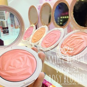 Pretty rose motif blushers from @mille_beaute - so many shades and only two cheeks 😍 which shade should I choose~? 🤔  #millebeaute #milleglobalcamp #blushers #versailles #rose #beauty #beautyblog #beautyblogger #clozette  #beautyaddict #bblogger #instabeauty  #makeup #makeupjunkie #makeupaddict #makeupstash  #beautyjunkie #trendmood #skincare #skincareblogger #makeuphoarder #igbeauty #madeinkorea