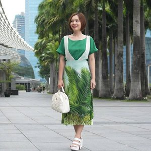 #Throwback to what I wore on Palm Sunday. Green is such a refreshing color to wear in Spring! #clozette