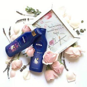 Hope noone's having the Monday blues today, and if you are, remember that there are many reasons to be happy indeed! Accompanying the #roses and #rose #petals are the new #nivea #skindelight #bodylotion, which have really gorgeous floral scents and of course the nice @nivea_de formulation we know and love! In stores now. #Clozette #beauty #skincare