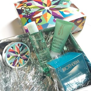 Getting ready got the festivities with @biotherm #holiday2016 #skincare! Love the #LimitedEdtion #cccushion case especially, and also some of their popular products, including the #aquasource #moisturizer, #cleanser and toner! #Clozette #beauty