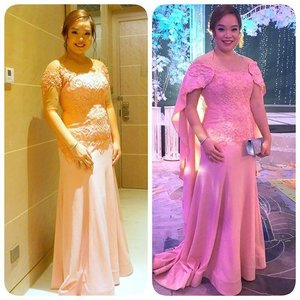 The 2 looks of my gown last Saturday. #yellowyum #msyellowyum #beauty #beautyph #beautyblogger #beautybloggerph #bblogger #bbloggerph #manilablogger #lifestyle #lifestyleblogger #pinayvlogger #blogger #bloggerph #youtube #youtuber #youtuberph #vlogger #vloggerph #clozette #fashion #wedding