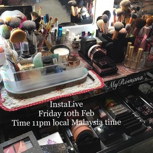 Wanna see my #makeupcollection ? See you then(if I don't forget, that is) #instalive #makeup #MyRomana #clozette #instabeauty
