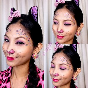 www.tauyanm.com ~ super easy and cute #cat #leopard #makeuptutorial for #beginner is up on my youtube channel and blog! pls watch! thanks! More coming soon! youtube search for - tauyanm 1 - ❤️ #beauty #beautyblogger #pinoy #makeup #makeupjunkie #spam #malaysiablogger #malaysia #fashion #fashionblogger #lovemakeup #ootd #cleomsia #femalemag #pink #motd #fotd  #youtube #clozetteambassador #clozette #vlog  #halloweenmakeupmadness2015