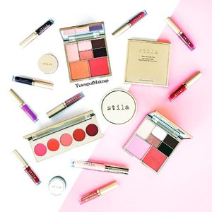 Tuesdays, I'm a Stila Girl! 🔻...From @stilacosmetics: Perfect Me, Perfect Hue Eye & Cheek Palettes in: Light/Medium and Medium/TanSunset Seranade Cobvertible Color Dual Lip & Cheek PaletteLush Lips Water Plumping PrimerMini liquid lipsticks from the Eternal Love Liquid Lipstick Set and Eternally Yours Liquid Lipstick SetPerfectly Poreless Putty Perfector.................#makeup #photographer #style #flatlay #luxury #motd #decadent #stila #eyeandcheekhue  #foundation #poreputty #liplacquer #ausbeautyblogger #valentino #blush #eyeshadows #fashionblogger #primer