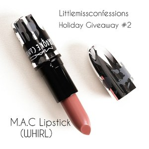 Happy Sunday Sunshine(s)! It's time for #littlemissconfessions Holiday Giveaway #2. It's another Lippie from one of my favourite all-time brands, M.A.C. The shade up for grabs is WHIRL. It's such a popular shade worldwide and I wanted one of you to have it (that too in limited edition Brooke Candy packaging). To win this Lipstick, you'll have to do the following . .  1: Be following @littlemissconfessions 😂 2. Share in the comments section, one beauty hack you swear by and tag 1 friend to join the fun and follow our #littlemissconfessions family. (Bonus points for encouraging them to follow) 4. Each individual is only allowed one entry (so that everyone has a fair chance ❤) . . Giveaway #2 closes on Monday, 12 noon and winners will be announced then. This giveaway is open to Singapore residents only. Good luck ❤ . .  #clozette #sgig #makeupaddict #makeupslaves #slave2beauty #makeupmess #makeupjunkie #beauty #instabeauty #makeupfanatic1 #beautyblogger #bbloggers #hudabeauty #sgmakeup #makeupblogger #sgbeauty #sgigbeauty #sgmua #wakeupandmakeup #beatthatface #jj_forum #instamakeup #beautytalk #beautyful #singapore #sggiveaway #giveaway