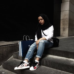 Rocking my Adidas Superstar x RIta Ora #FashionxHijab #clozette