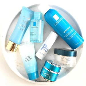 My Top Skincare Choices for this month... Coincidentally they follow a blue 🦋 theme... 1️⃣ #GuerlainSg Super Aqua Mask - I use it 3 times a week to hydrate my skin.. It smells amazing & brightens the skin instantly. There are better masks out there that hydrates the skin quicker than this but I like that this provides a brightening effect.. 2️⃣#LaRochePosay Effaclar Micellar Water Ultra - I've been using this daily to remove my makeup & it does a great job in removing my foundation along with my eyeliner & non-waterproof mascaras but my skin feels rather tight afterwards.. I've been having dry skin lately so this could be a little harsh for me as this one shown on the picture is meant for oily skin, meant to mattify. 3️⃣#Boscia Cool Blue Calming Mask - I love love love love love this for its cooling sensation upon application, meant to minimize pores, calm the skin & relive redness. It is a peel off mask & i like to have fun with this!... 4️⃣#RevealASecret Black Magic Blackheads Clearing Gel - A natural plant based gel meant to unclog pores while reducing blackheads, whiteheads & controlling oil production. I'm proned to having tons of blackheads around the nose area & after a month of using this, I notice a significant reduction in the amount of blackheads forming.. Once applied, the skin feels cooled & absorbs quickly!... 5️⃣#LaRochePosay Serozinc - Still enjoying this facial spray as a toner & a blotter throughout the day... 6️⃣#BottegaVerdeSg Phytovital Face Shaping Day Treatment with SPF15 - I use this as my day moisturizer & enjoy how moisturized it keeps my skin & the radiance it gives my skin... Love that it's paraben free!... 7️⃣#Glamglow #ThirstyMud Hydrating Treatment - Using this whenever my skin feels particularly extra dry that day or whenever I want to boost my skin's hydration level. I don't leave it on as a overnight mask though as I have quite sensitive skin... 💁🏻What are your skincare favorites or must haves? #clozette