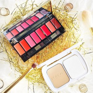 Introducing the @lorealmakeup New limited edition festive collection! 🎄 ________________________________________  There's a new lip and cheek palette comprising of 8 shades ranging from coral, pink, red and brown that dries to a matte finish. Coming in a sophisticated gold case, this is great for bringing with you along the go! - The iconic True Match Powder also comes in a new limited edition casing! -  Do check these out if you're interested. It will be sold exclusively in the month of December! 😉 . . . #lorealparissg #makeupdesigner #clozette #christmascollection