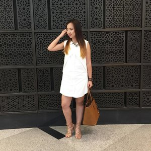 Because as much as love and like is a combination of fate and risk… more than anything, it's a decision. . 📷 by @carol.lamwy . #ootd #fashion #fashionblogger #lifestyleblogger #billinishoes #heels #dress #white #michaelkors #zaloramy #zalora