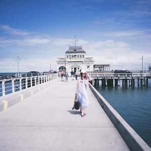 St kilda Pier. Windy AF. Cant wait for spring in taiwan in a week's time! And slowly countdown to May too! 👫 #keepexploring #clozette #fashion #fashiondiaries #fashionblogger #lookbook #ootd #ootdsg #instahub #explore #outfit #girl  #igdaily #igers #igsg #sgblogger #today #me #selfie #portrait #vscocam #photography #landscape #sonyimages #travel #photooftheday  #clairesimontravel #claireaudreyootd