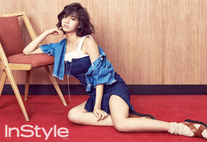 Hyeri rocks a bare face in the March issue of InStyle magazine