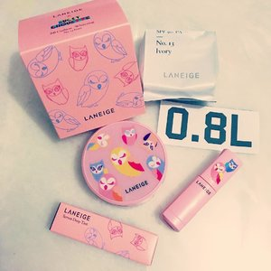Guess what came in the mail? 💌 Just received this pretty Laniege x Choupette bb cushion all the way from Korea from @0.8l_singapore The pretty pink Choupette casing really goes well with the Choupette lippie that I received from my ex colleagues. Thanks for the love 😘 #beauty #Clozette