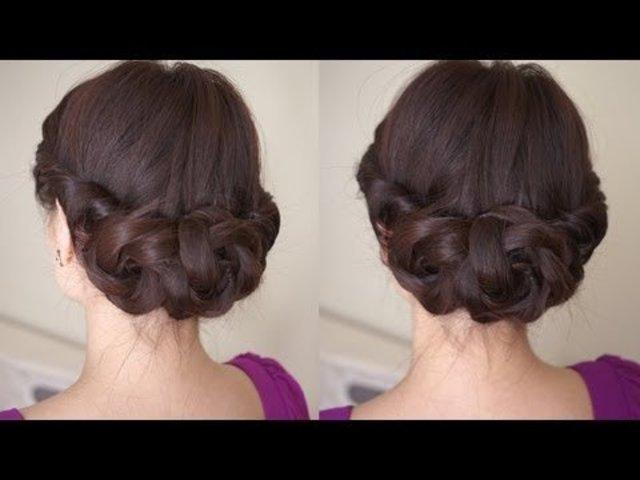 Прическа на средний и жидкий волос