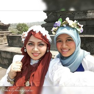 "August 27th, 2015 ---- #MuslimahTraveler Day 2 : #MuslimLolita explores #Yogya #Candi ( #Sambisari and #Barong ) 👜👠🚘...Pagi! Ohayou! Morning! Today I will explore 2 Candi ( #hinduism #temple ) in Yogya, Candi Sambisari and Candi Barong with my family 😉. Feel excited! My #OOTD is Muslim Lolita Princess with Batik Lawasan and headscarf.🚘👠👜 …ps: calon #sisterinlaw lagi ditularin dressup and makeup juga supaya ada ""partner in crime"" waktu jalan2 bareng keluarga besar 😂😂😂 #muslimahindonesia #modestfashion #coveredstyle #headscarf #scarf #candibarong #lolitastyle #traveling #trip #journey #ClozetteID #vintagestyle #hijabi #Indonesia #instatravel #instafashion  #batikindonesia #visityogyakarta #stylishtraveler #travelgrammer"
