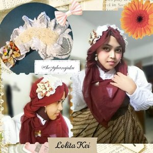 🌸🎀🌸 August 1st, 2015 --- Yokoso August, please be nice to me 😉 . Starting this new month with #creating #Lolita #headdress and try #dressup in #Lolitakei look with my #batik #gown and #headscarf . This is it my #kawaii #modestfashion #coveredstyle #lolitastyle with #scarfstyle 🌸🎀💖 #ClozetteID #HijabIndonesia #hijabi #hijabstyle #TokyoStreetFashion #IndonesianWay #OOTD #hotd #fashion #style #instafashion #instabeauty