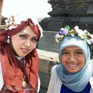 "August 27th, 2015 ---- #MuslimahTraveler Day 2 : #MuslimLolita explores #Yogya #Candi ( #CandiSambisari and #CandiBarong ) 👜👠🚘...Pagi! Ohayou! Morning! Today I will explore 2 Candi ( #hinduism #temple ) in Yogya, Candi Sambisari and Candi Barong with my family 😉. Feel excited! My #OOTD is Muslim Lolita Princess with Batik Lawasan and headscarf.🚘👠👜 …ps: calon #sisterinlaw lagi ditularin dressup and makeup juga supaya ada ""partner in crime"" waktu jalan2 bareng keluarga besar 😂😂😂 #muslimahindonesia #modestfashion #coveredstyle #headscarf #scarf #lolitastyle #traveling #trip #journey #ClozetteID #vintagestyle #hijabi #Indonesia #instatravel #instafashion  #batikindonesia #visityogyakarta #stylishtraveler #travelgrammer"