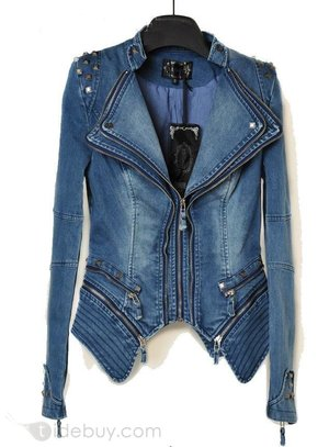 Stylish New Leisure Design Women's Long Sleeve Jean Jackets(3colors) : Tidebuy.com