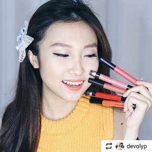 #Repost @devolyp with @instatoolsapp ・・・ [GIVEAWAY ALERT] Hi guys! If you watched my Instastory yesterday, you'd know that I was so excited to try the newest product from @maybelline, yup, the #LipGradation! 💋 It is a 2in1 creamy matte pencil that helps you to bring off the ombre look or pull off the full matte look 💄You could express yourself with this one, either you're a serious one or the lighthearted one. But for me, I'll choose the soft one! ☺️ _ Also, I've got ONE SET to giveaway for you who want to try this product! 😍 All you need to do is: 1. Just regram this post with hashtag #MaybellineLipGradation #PowerOfDoubleEdge 2. And have a chance to win a set of Maybelline Lip Gradation! _ #MNYIndonesia #MaybellineIndonesia #beautybloggerid #clozetteid #indonesianbeautyblogger