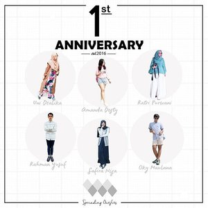 24/9/17 Now it's time to say happy 1st anniversary to Spreading Outfits ♥ Terima kasih untuk semua dukungan, partisipasi, juga keaktifan kamu pada Spreading Outfits.  Well, let's celebrate the anniv! Join us and get a chances to win special surprize : - Lipcream QL from @ratridp - Pomade from @okymavlana - Food vouchers 50K from @perutnyakenyang - Mini Bag from @amandatydes - Pulsa 50K all operator from @safiranys - Creme21 from @foreveryounglady - Pulsa 50K (for two winners) all operator from @rahmanucup  Caranya?  1. Posting foto OOTD (head to toe) dengan tema apapun, bebas sesuai signature style kalian.  2. Caption bebas. 3. Follow @spreadingoutfits 4. Mention dan tag @spreadingoutfits 5. Sertakan hashtag : #SpreadingOutfits #1stAnnivSO  p.s : Kesempatan menang akan lebih besar kalau kamu follow @ratridp @okymavlana @amandatydes @safiranys @unidzalika @rahmanucup @perutnyakenyang dan @foreveryounglady  Instagram kamu jangan diprivate yaa.  Periode kontes : 24 September - 7 Oktober 2017  Good luck! 💫 . . #clozetteid #beautyandfashion #giveaway #giveawayindonesia #giveawaypulsa #ootd #contest #ootdindo