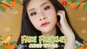Fake freckles makeup tutorial on my youtube. 👩👩👩 Check link on bio.Product I used : ❤ serum @humphreyskincare.official golden whitening serum❤ eye cream @innisfreeindonesiaOrchid eye cream❤primer @indonesia_etudehouse  beauty shot face blur❤concealer @lagirlindonesia pro conceal nude❤concealer @latulipecosmetiques_ perfect foundation ochre❤foundation @lorealindonesia pro matte foundation❤powder @cotyairspun_ extra coverage powder❤eyebrow @thefaceshop.official designing eyebrow pencil❤eyebrow @thefaceshopid color my eyebrow❤eyeshadow @beautycreations.cosmetics irresistible❤@etudehouseofficial play 101 pencil black❤contour&highlight @makeuprevolution ultra contour palette❤blusher @indonesia_etudehouseDear darling water gel tint PK001❤liptint @indonesia_etudehouse  dear darling oil tint RD301❤lip cream @eminacosmetics cream matte fuzzy wuzzy#clozetteid