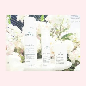 Pamper yourself with Newest Collection from @NuxeID Nuxe White Brightening with White Flowers and Hyaluronic Acid which give benefits correct and reduce dark spots to all skin type 💕  #NuxeID #sephoraidnxnuxe #sephoraidnxnuxeid #white #skin #skincare #nuxe #pamperyourself #Beauty #ClozetteID