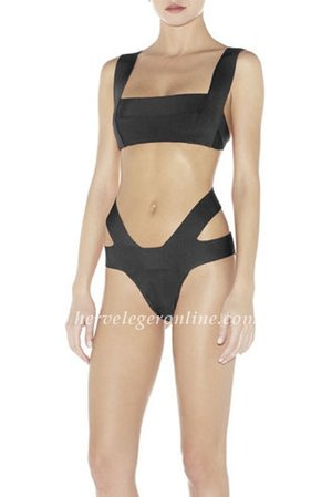 Lucie Two-Piece Herve Leger Bandage Swimwear  Herve Leger swimsuit is sure to make a splash by the pool. With a bold hue and iconic bandages, this swimsuit captures exclusive poolside style. You will get enduring style with exclusive glamour in this timeless one-piece swimsuit. Make a dramatic impact by the pool in this powerful Herve Leger Lucie Two-Piece Bandage Swimsuit. Square neckline with bandage straps.Bandages at hips lay at waist and across lower back. V-shaped straps at back with hook-and-eye closures. Partially lined at bottom. To maintain the beauty of your garment, please follow the care instructions on the attached label. Rayon,Nylon,Spandex.Polyester Lining. Imported. Tags: Herve Leger, Herve Leger Swimsuit, Herve Leger Swimwear