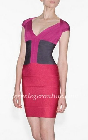 If you want to be more sexy and confident in the crowd. This herve leger dress with available color will show your percipient. V-neck. Short sleeves. Bandage construction throughout. Concealed center back zipper with hook-and-eye closure. To maintain the beauty of your garment, please follow the care instructions on the attached label. Rayon, Nylon, Spandex. Imported. Tags: V-Neck Dresses, Empire Waist Dresses