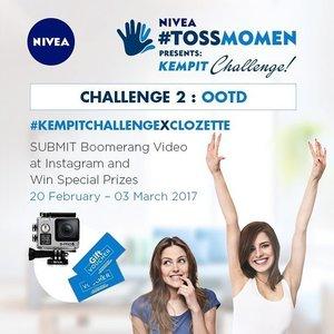 OOTD biasa sih gampang, tapi kalo harus OOTD dengan ketiak di kempit? Kamu harus coba! Join @NIVEA_ID #TossMomen: Kempit Challenge periode 2 dengan tema OOTD! Ada hadiah Brica Camera, shopping voucher & NIVEA hampers, lho! Info lengkap di http://bit.ly/kempitchallenge2 (link di bio)  #TOSMOMEN #KempitChallengeXClozette #ClozetteID