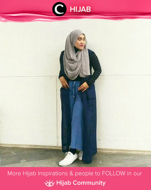 Denim culottes are a trendy style, but they can be tricky to pull off. Simak inspirasi gaya Hijab dari para Clozetters hari ini di Hijab Community. Image shared by Clozetter: @andiyaniachmad. Yuk, share juga gaya hijab andalan kamu