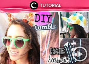 Butuh aksesoris rambut baru agar gayamu lebih seru dan stylish? Yuk, buat aksesori rambutmu sendiri seperti dalam video berikut http://bit.ly/2lHB9U2. Video ini di-share kembali oleh Clozetter: @ranialda. Cek Tutorial Updates lainnya pada Tutorial Section.