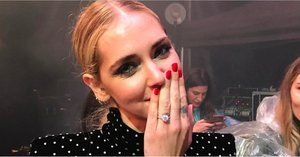 Chiara Ferragni's New Engagement Ring Shines Brighter Than Her YSL Minidress
