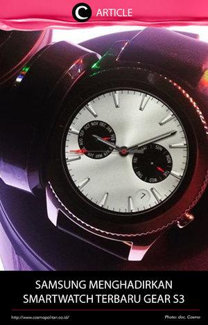 Samsung baru saja memperluas kategori wearable smartwatch-nya dengan meluncurkan Gear S3, inovasi terbaru dari Samsung yang terinspirasi dari jam tangan tradisional. Gear S3 ini hadir dengan menggabungkan desain klasik dan teknologi mobile terkini. Baca selengkapnya di http://bit.ly/2lSxikC. Simak juga artikel menarik lainnya di Article Section pada Clozette App.