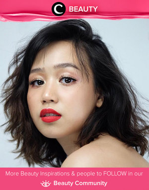 Neutral eye makeup with bold lips. Inspired by Patrick Ta. Simak Beauty Updates ala clozetters lainnya hari ini di Beauty Community. Image shared by Clozette Ambassador: @cclaracr. Yuk, share beauty product andalan kamu.