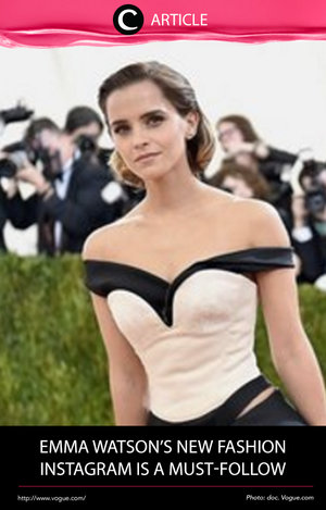 Emma Watson is always chic. But the Beauty and the Beast star took her love of fashion a step further this weekend with the launch of a new Instagram account. Read more at http://bit.ly/2lpm2LX. Simak juga artikel menarik lainnya di Article Section pada Clozette App.