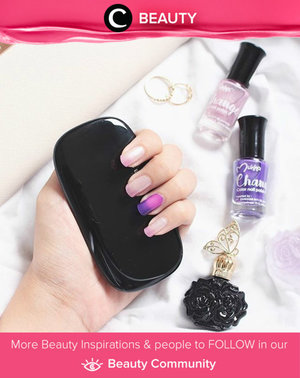 Add a little touch purple and pink on your nails. Using Color Changing Polish from Mukka. Simak Beauty Updates ala clozetters lainnya hari ini di Beauty Community. Image shared by Clozetter: @gabbypali. Yuk, share beauty product andalan kamu.