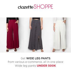 Kemeja putih dengan wide leg pants merupakan outfit sempurna untuk gaya ke kantor yang timeless dan modis. Belanja wide leg pants favoritmu dari berbagai ecommerce DI BAWAH 500k via  #ClozetteSHOPPE!  http://bit.ly/1WAVtTra