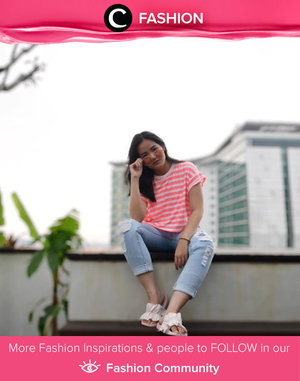 Bored of the black and white striped shirt? Pick the neon one! Simak Fashion Update ala clozetters lainnya hari ini di Fashion Community. Image shared by Clozetter: @jennitanuwijaya. Yuk, share outfit favorit kamu bersama Clozette.