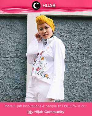 Embroidery can make your outfit really come to life. Simak inspirasi gaya Hijab dari para Clozetters hari ini di Hijab Community. Image shared by Star Clozetter: @dewindriyani. Yuk, share juga gaya hijab andalan kamu