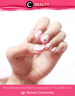 Ice cream on your nails. Simak Beauty Updates ala clozetters lainnya hari ini di Beauty Community. Image shared by Star Clozetter: @rimasuwarjono. Yuk, share beauty product andalan kamu.