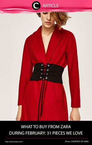 Untuk kamu pecinta brand Zara, berikut ini fashion items yang dapat kamu pilih untuk menyempurnakan penampilanmu di bulan Februari ini. Temukan di http://bit.ly/2lbtHyk. Simak juga artikel menarik lainnya di Article Section pada Clozette App.
