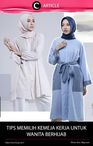 Ingin tampil formal di kantor dengan menggunakan kemeja? Yuk lihat cara memilih kemeja kerja untuk Hijabers di http://bit.ly/2jhTS7Z. Simak juga artikel menarik lainnya di Article Section pada Clozette App.
